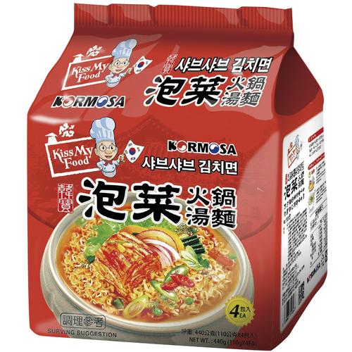 《KORMOSA》泡菜火鍋湯麵(110g*4包/袋)