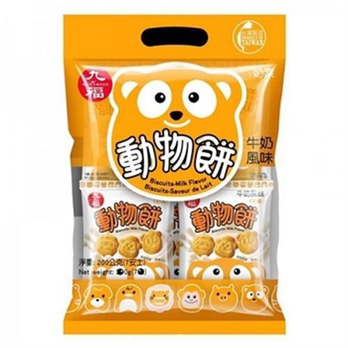 九福 動物餅(牛奶風味)(200g/包)