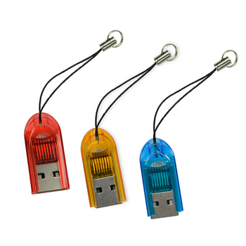 YANG YI揚邑 TF/MicroSD/SDHC/SDXC吊飾讀卡機(隨機出貨)