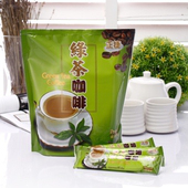 《啡茶不可》綠茶咖啡3包(30gx15入/包)~也是抹茶咖啡,讓您一次擁有兩種享受。