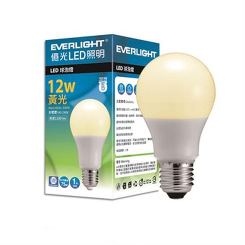億光12W LED燈泡(黃光)