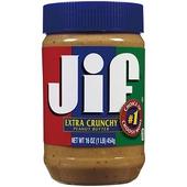 《JIF》顆粒花生醬(454g)