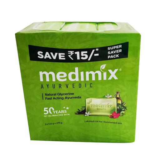 《Medimix》草本寶貝美膚皂(125g/3入(淺綠))