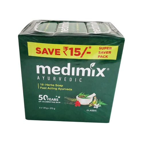 《Medimix》草本溫和美膚皂(125g/3入(深綠))