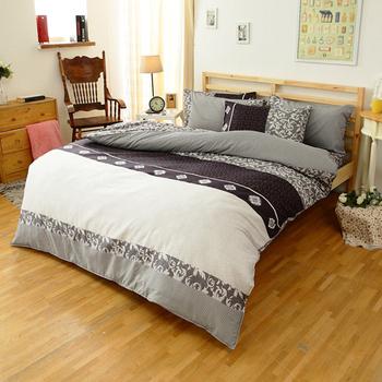 ★結帳現折★ 【FOCA-經典貴族】雙人-100%精梳純棉四件式兩用被床包組