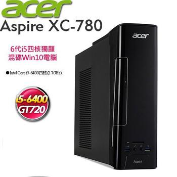 宏碁 acer XC-780 Intel i5-6400四核心★1TB+128SSD★獨顯2G★Win10電腦(8.5公升)