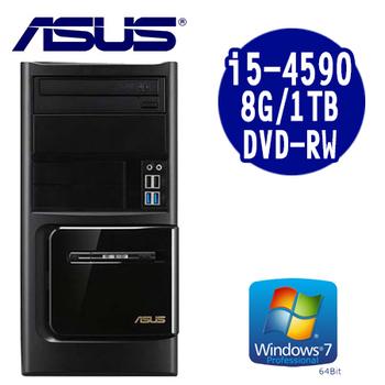 ASUS華碩 MD780 i5-4590 四核 1TB大容量 Win7 PRO 套裝電腦(MD7804590)