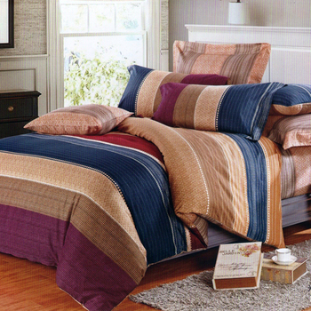 【FOCA-左岸密戀】加大-100%精梳純棉四件式兩用被床包組