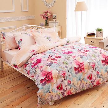 【FOCA-縷縷悠香】單人-100%精梳純棉三件式兩用被床包組