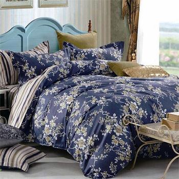 【FOCA-墨花凝語】特大-100%精梳純棉四件式兩用被床包組