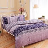 【FOCA-閣韻情思】-特大100%精梳純棉四件式兩用被床包組