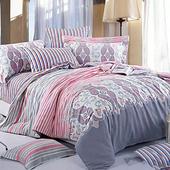【FOCA-波光粼粼】單人-100%精梳純棉三件式兩用被床包組