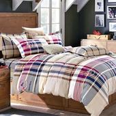 《FOCA-愛情公寓》雙人-八件式100%精梳純棉舖棉二用被床罩組(雙人羽絲絨冬被x1)