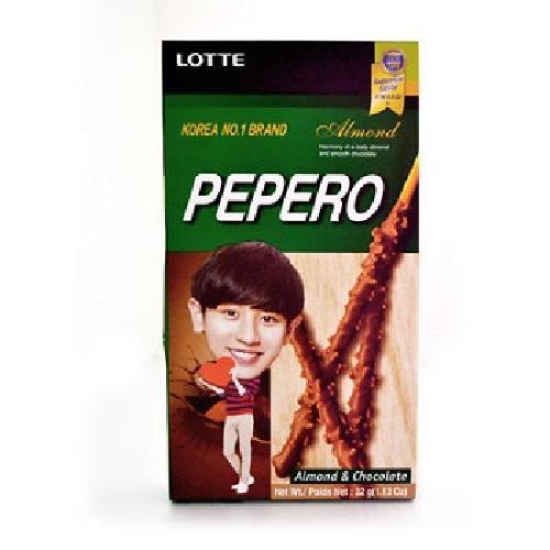 LOTTE Pepero杏仁巧克力棒(32G)