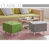 《伊里斯》伊里斯英式極簡方形沙發椅(二色可選)(果綠)