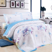 【Betrise 竹韵染意】特大-頂級300支紗100%天絲TENCEL四件式兩用被床包組