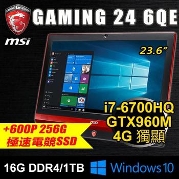 微星 MSI 微星 Gaming 24 6QE-760P3 23.6 電競AIO(i7/16G/256G PCIE+1T/GTX960M)