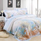 【Betrise 愛在深秋】加大-頂級300支紗100%天絲TENCEL四件式兩用被床包組
