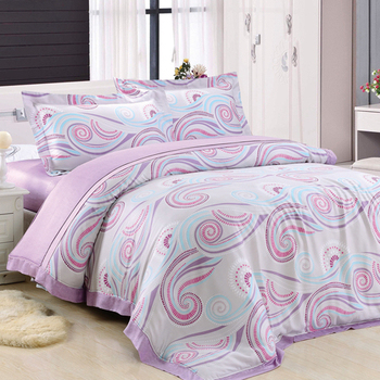 【Betrise秘密】特大-頂級300支紗100%天絲TENCEL四件式兩用被床包組
