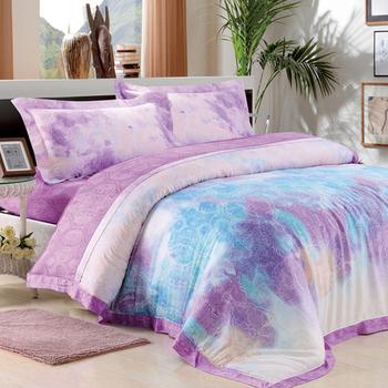 【Betrise鳳凰之韻】特大-頂級300支紗100%天絲TENCEL四件式兩用被床包組