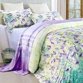【Betrise幻夢花園】特大-頂級300支紗100%天絲TENCEL四件式兩用被床包組