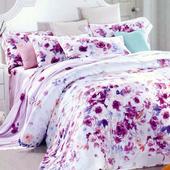 【Betrise花顏巧色】特大-頂級300支紗100%天絲TENCEL四件式兩用被床包組