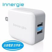 《台達電Innergie》17瓦雙USB快速充電器 (PowerJoy Plus 17)★雙孔3.4A大電流