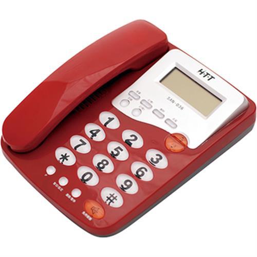 Selecline 來電顯示有線電話機CID-001(紅)