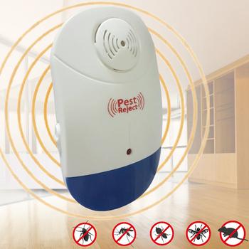 《Bunny》新智能全方位LED超音波驅蚊蟲器驅鼠器(二入)