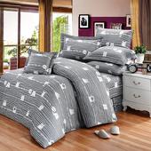《FITNESS》精梳純棉加大七件式床罩組- 萌玩樂園(灰)(6x6.2尺)