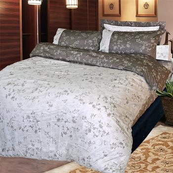 《FITNESS》精梳純棉單人床包+枕套二件組- 夕川織影(咖)(3.5*6.2)