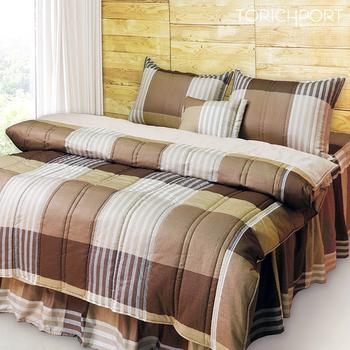 《Victoria》純棉雙人五件式床罩組-典藏((5*6.2尺))