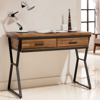 《Homelike》利克工業風3.5尺書桌