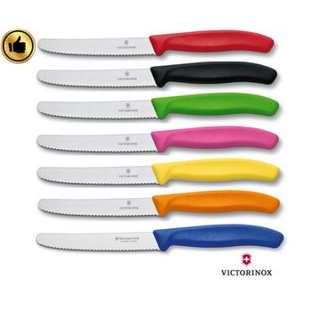★結帳現折★VICTORINOX瑞士維氏 瑞士百年品牌-專業番茄刀 2入組 --- 顏色隨機