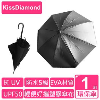 ★結帳現折★【KissDiamond】 黑色Eva壓紋環保傘(兩入一組)(黑色)