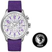 《VERSUS》【VERSACE副牌】韓國運動經典帆布錶(SGL05)