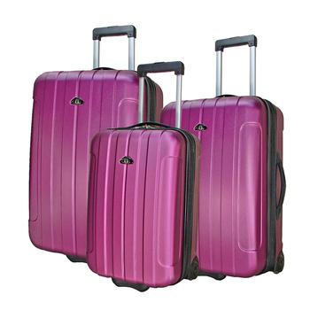 ROYAL POLO皇家保羅 20+24+28吋簡約風兩輪ABS輕硬殼箱/旅行箱/行李箱(紫色)