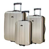 《ROYAL POLO皇家保羅》20+24+28吋簡約風兩輪ABS輕硬殼箱/旅行箱/行李箱(香檳金)