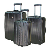 《ROYAL POLO皇家保羅》20+24+28吋簡約風兩輪ABS輕硬殼箱/旅行箱/行李箱(黑色)