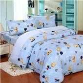 【FOCA 】雙人-MIT頂級蜜桃絨四件式被套床包組 (尋寶樂園-藍) $699