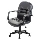 《GXG》短背皮面 電腦椅 (可後躺/塑膠腳) TW-1003 EK(備註編號款式)