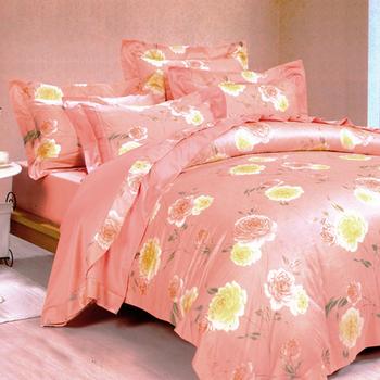 【Betrise紅粉菲菲】雙人-100%頂級60支長絨棉四件式兩用被床包組