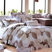 【Betrise圓點風尚】加大-100%頂級60支長絨棉四件式兩用被床包組