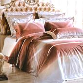 【Betrise柏拉圖之戀】特大-100%頂級60支長絨棉四件式兩用被床包組(被套7x8)