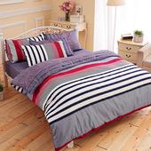 【FOCA-品味非凡】雙人-100%精梳純棉四件式兩用被床包組
