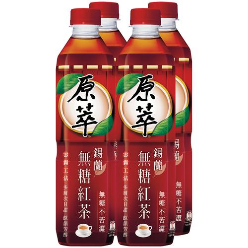 原萃 錫蘭無糖紅茶(580ml*4/瓶)