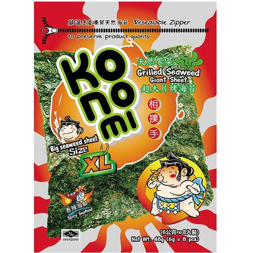 KoNoMi 相撲手超大片烤海苔-香辣海鮮(48g/包)