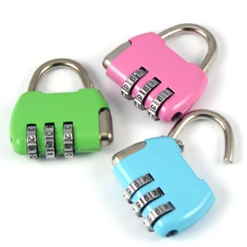 JTourist 免鑰匙簡便密碼鎖/旅行箱袋鎖/置物櫃鎖/信箱鎖(1入/隨機出貨)