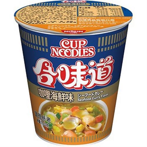 日清 合味道咖哩海鮮味杯麵(75g/杯)