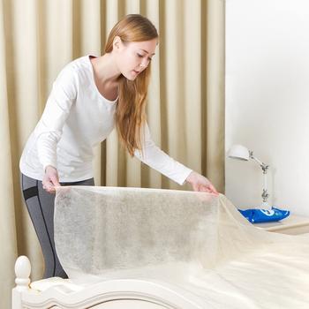 JTourist 出差旅行用免換洗不織布一次性床單(雙人)(1入)